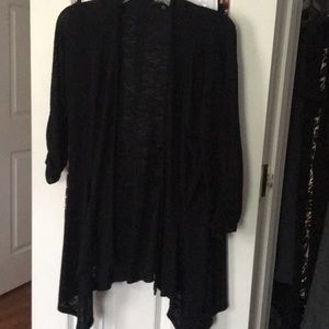 Black 3/4 Length Sleeve Cardigan